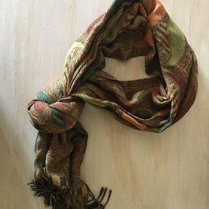 Beautiful fall paisley scarf